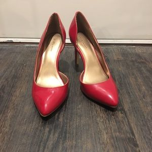 BCBG Lenny Half d'Orsay Pump Red patent leather